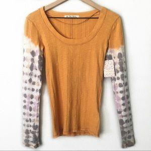 NWT Free People Big Sur Long Sleeve Tie Dye Shirt